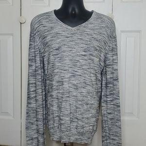 CALVIN KLEIN V Neck Gray Sweater Size XL